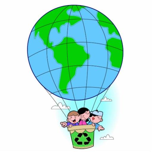 Earth Day Hot Air Balloon Statuette Zazzle