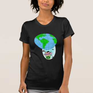 Earth Day hot air balloon Tee Shirt