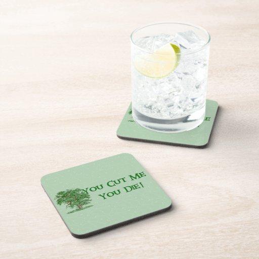 Earth Day Humor Beverage Coaster