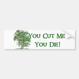 Earth Day Humor Car Bumper Sticker