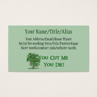 Earth Day Humor Business Card