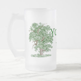 Earth Day Humor Frosted Glass Beer Mug