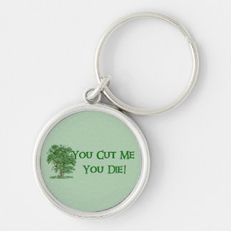 Earth Day Humor Silver-Colored Round Keychain