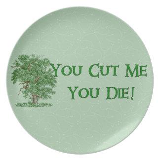 Earth Day Humor Melamine Plate