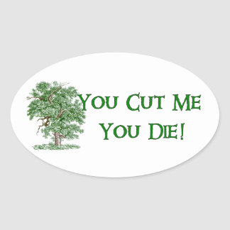 Earth Day Humor Oval Sticker
