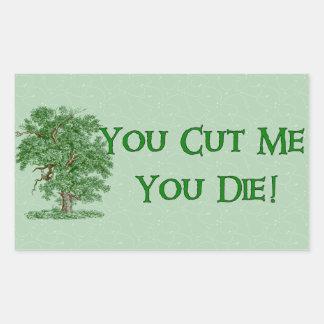 Earth Day Humor Rectangular Sticker