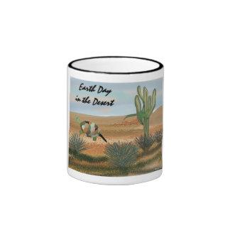 Earth Day in the Desert Ringer Coffee Mug
