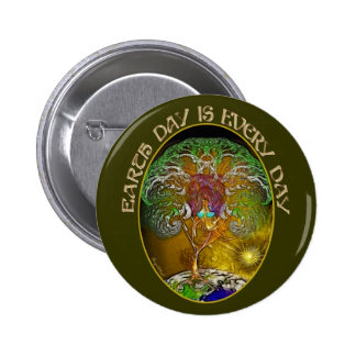 Earth Day is Every Day 2 Inch Round Button