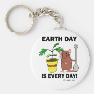 Earth Day Is Every Day Basic Round Button Keychain