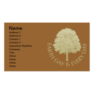 Earth Day Is Every Day Double-Sided Standard Business Cards (Pack Of 100)
