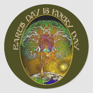 Earth Day is Every Day Classic Round Sticker