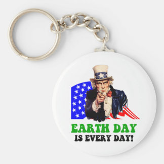 Earth Day is every day! Keychain