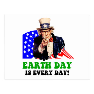 Earth Day is every day! Postcard