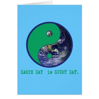 Earth Day is Every Day Yin Yang Tshirts, Mugs Card