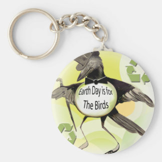 Earth Day is For the Birds Keychain