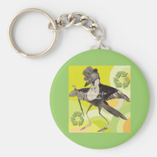 Earth Day Is For The Birds Keychains
