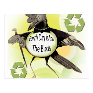 Earth Day is For the Birds Postcard