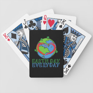 Earth Day: Keep Mother Nature Green & Recycled Bicycle Playing Cards