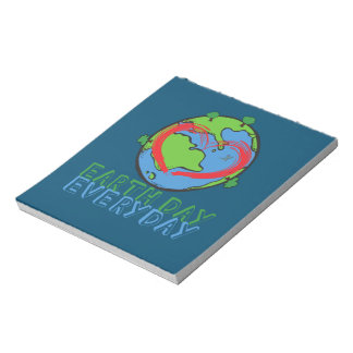 Earth Day: Keep Mother Nature Green & Recycled Notepad
