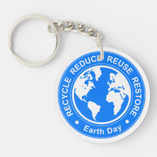 Earth Day Keychain