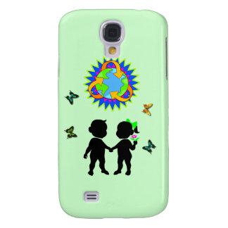 Earth Day Kids Galaxy S4 Case