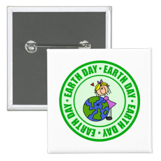 Earth Day Kids Gift Buttons