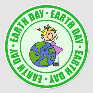 Earth Day Kids Gift Classic Round Sticker