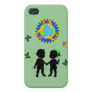 Earth Day Kids iPhone 4 Covers