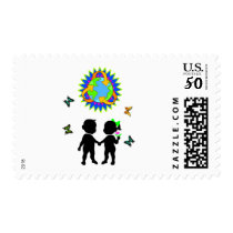 Earth Day Kids Postage