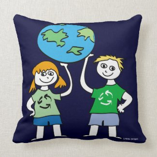 Earth Day Kids pillow