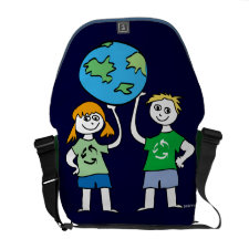 Earth Day Kids Recycle rickshaw_messengerbag