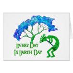 Earth Day Kokopelli Card