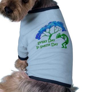 Earth Day Kokopelli Dog T-shirt