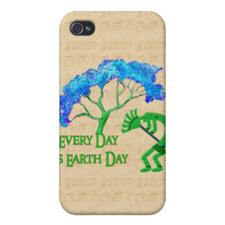 Earth Day Kokopelli Case For iPhone 4