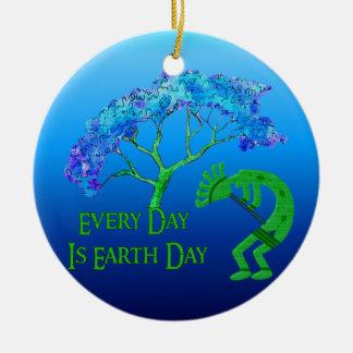 Earth Day Kokopelli Ornament