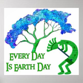Earth Day Kokopelli Poster