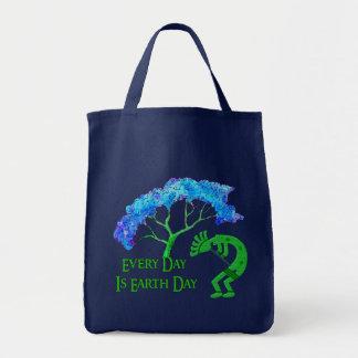 Earth Day Kokopelli Tote Bag
