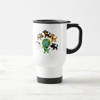 Earth Day! - Leaf and Five Pups Travel Mug