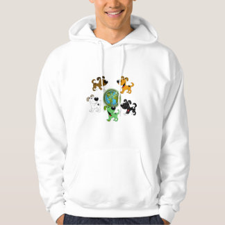 Earth Day! - Leaf and Four Pups Hoodie