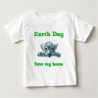 Earth Day Leopard Cub Baby T-Shirt