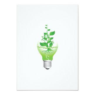 Earth Day Lightbulb Invitations
