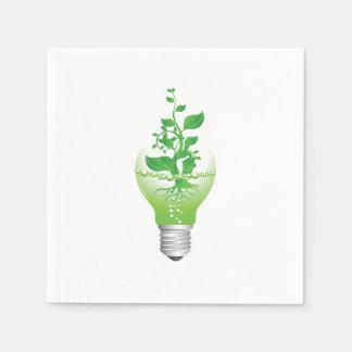 Earth Day Lightbulb Paper Napkins