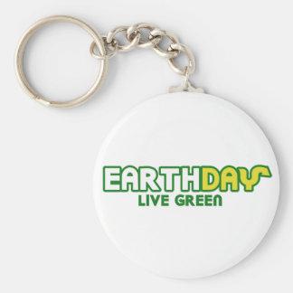 Earth Day Live Green Parody Basic Round Button Keychain