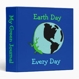 "Earth Day Lizard Globe 1.5"" Binder"