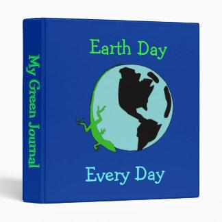 "Earth Day Lizard Globe 1"" Binder"