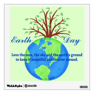 Earth Day Love Save It Forever Environment Art Room Sticker