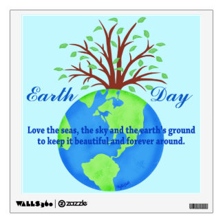 Earth Day Love Save It Forever Environment Art Wall Stickers