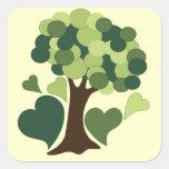 Earth Day Love Square Sticker