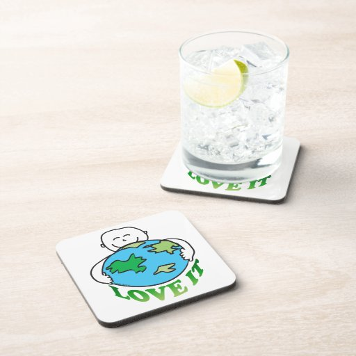 Earth Day Love the Earth Drink Coaster