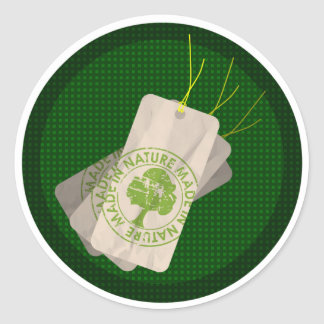 Earth day : made in nature classic round sticker